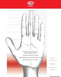 Die Schablone zur Handgrößenbestimmung für die richtige Gartenschere als PDF zum herunterladen und ausdrucken.