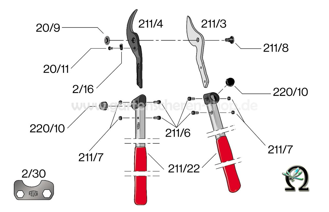 felco-211-40-explosionszeichnung