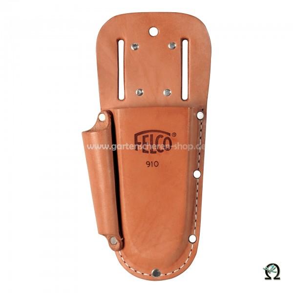Trageetui Felco 910+, Baumscheren-Träger aus Leder mit Tasche